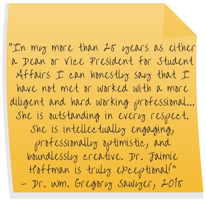Appreciation – Dr  Jaimie Hoffman